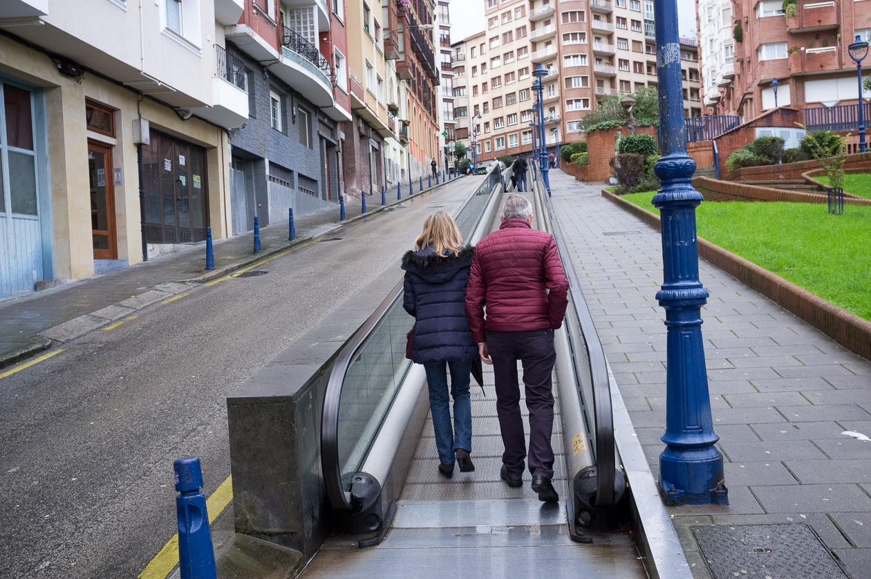 Laufband im Stadtteil Portugalete