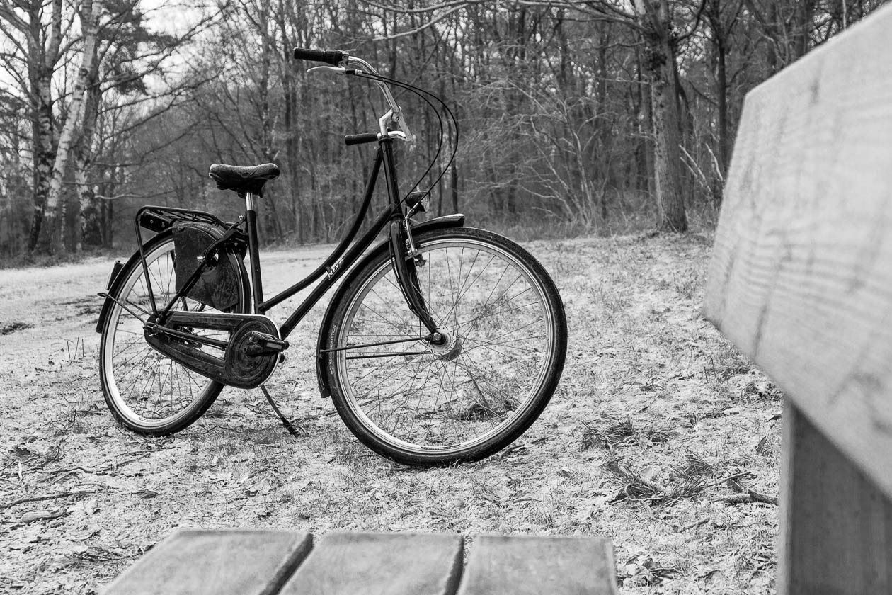 Schwarzes Fahrrad