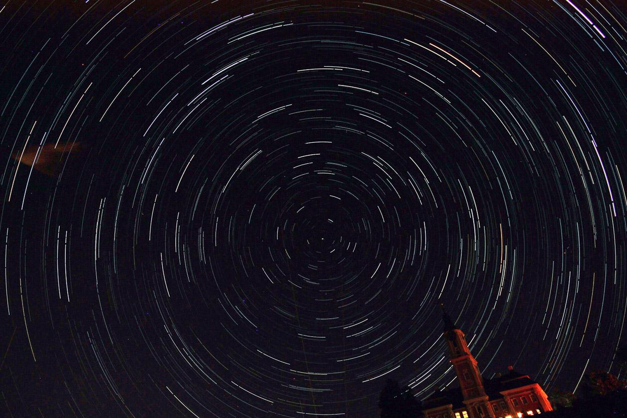 Sternstrichspuren über der Birnau