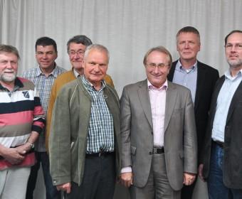 Der Vorstand mit Bürgermeister Lamm