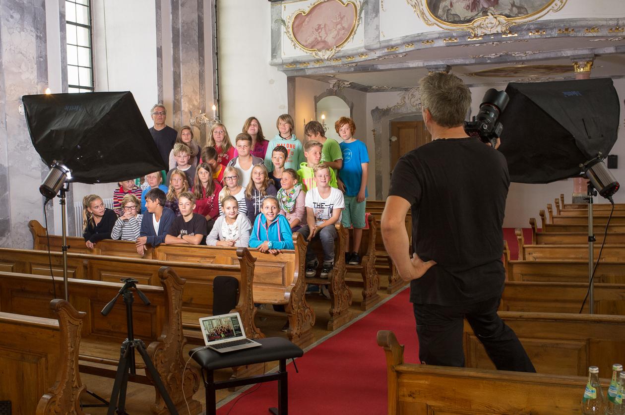 Beim Fotoshooting in der Seminarkapelle