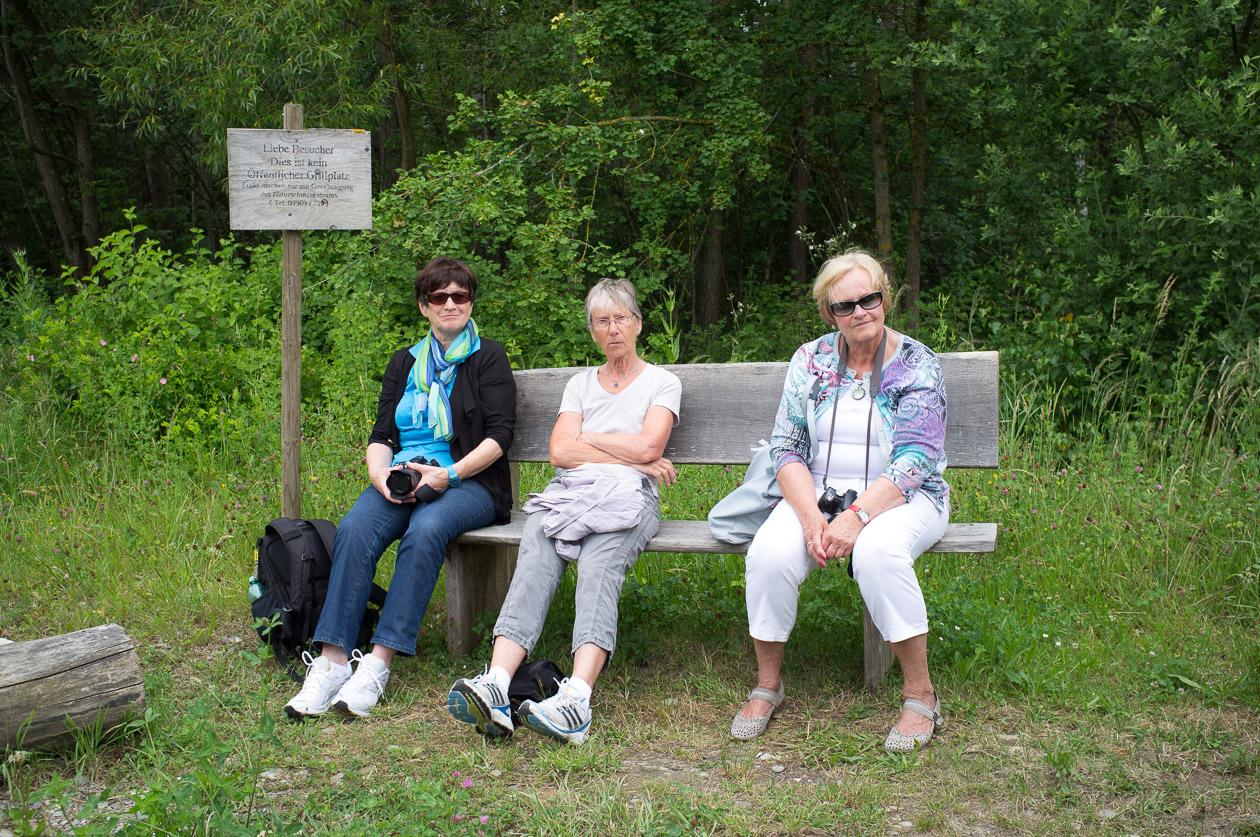 Claire, Anke und Bruni machen Pause