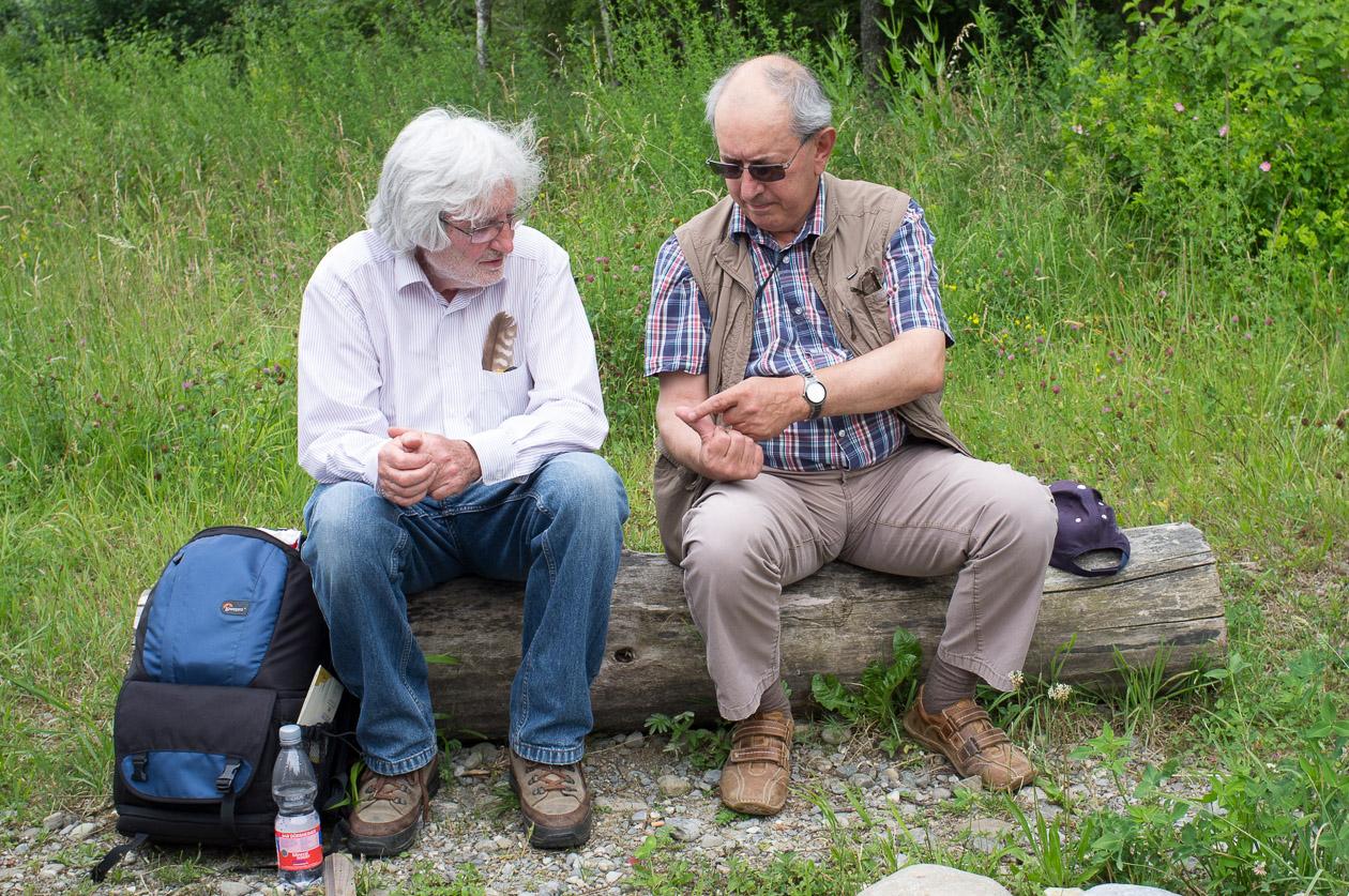 Gerhard und Aldo im Gespräch