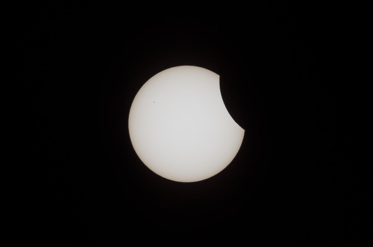 Mondeintritt und Sonnenfleck