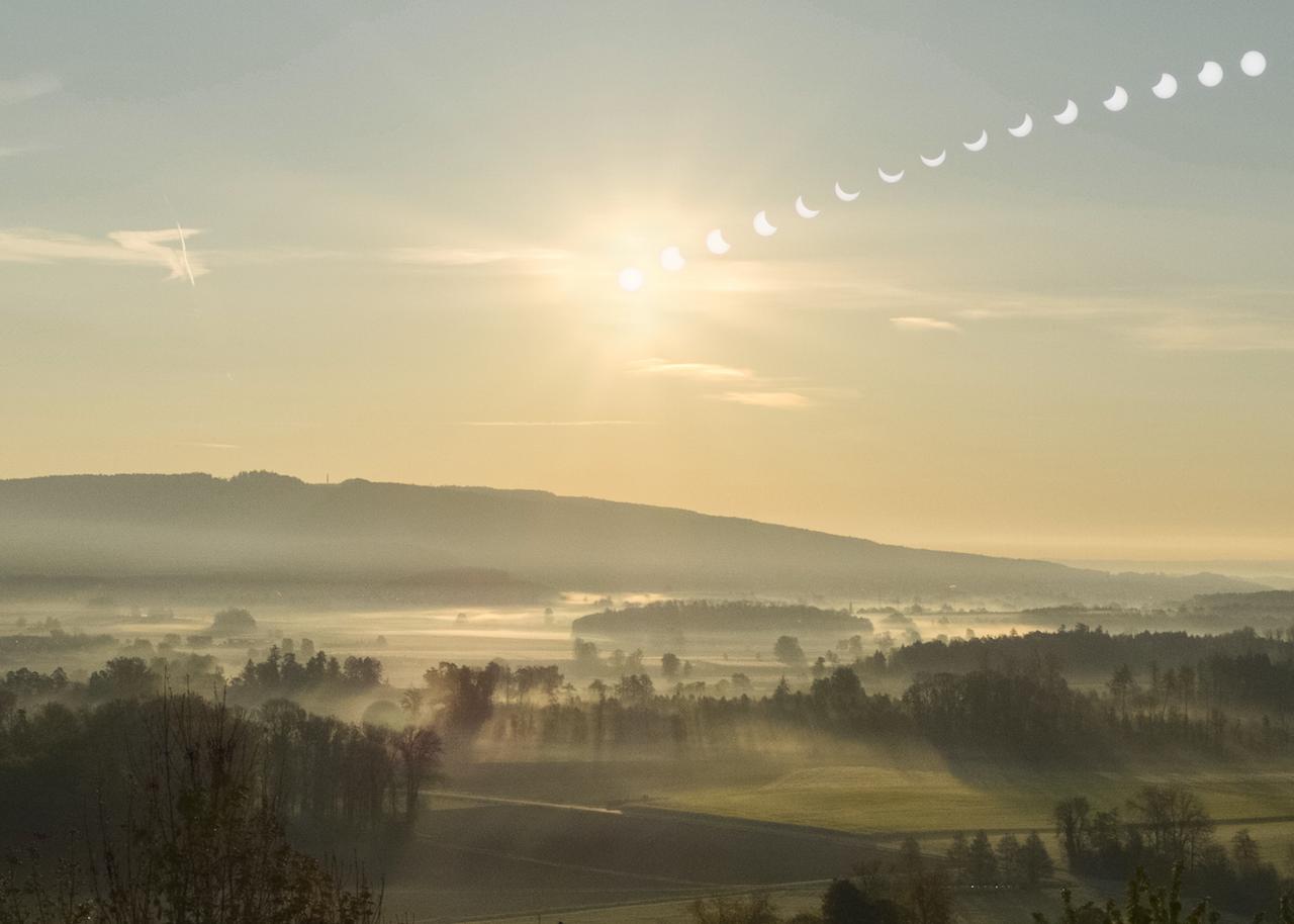 Sonnenfinsternis über dem Salemer Tal