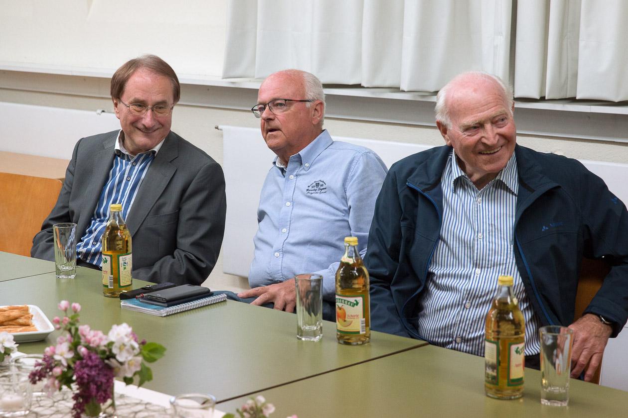 Bürgermeister Edgar Lamm im Gespräch mit Volkert Harpprecht