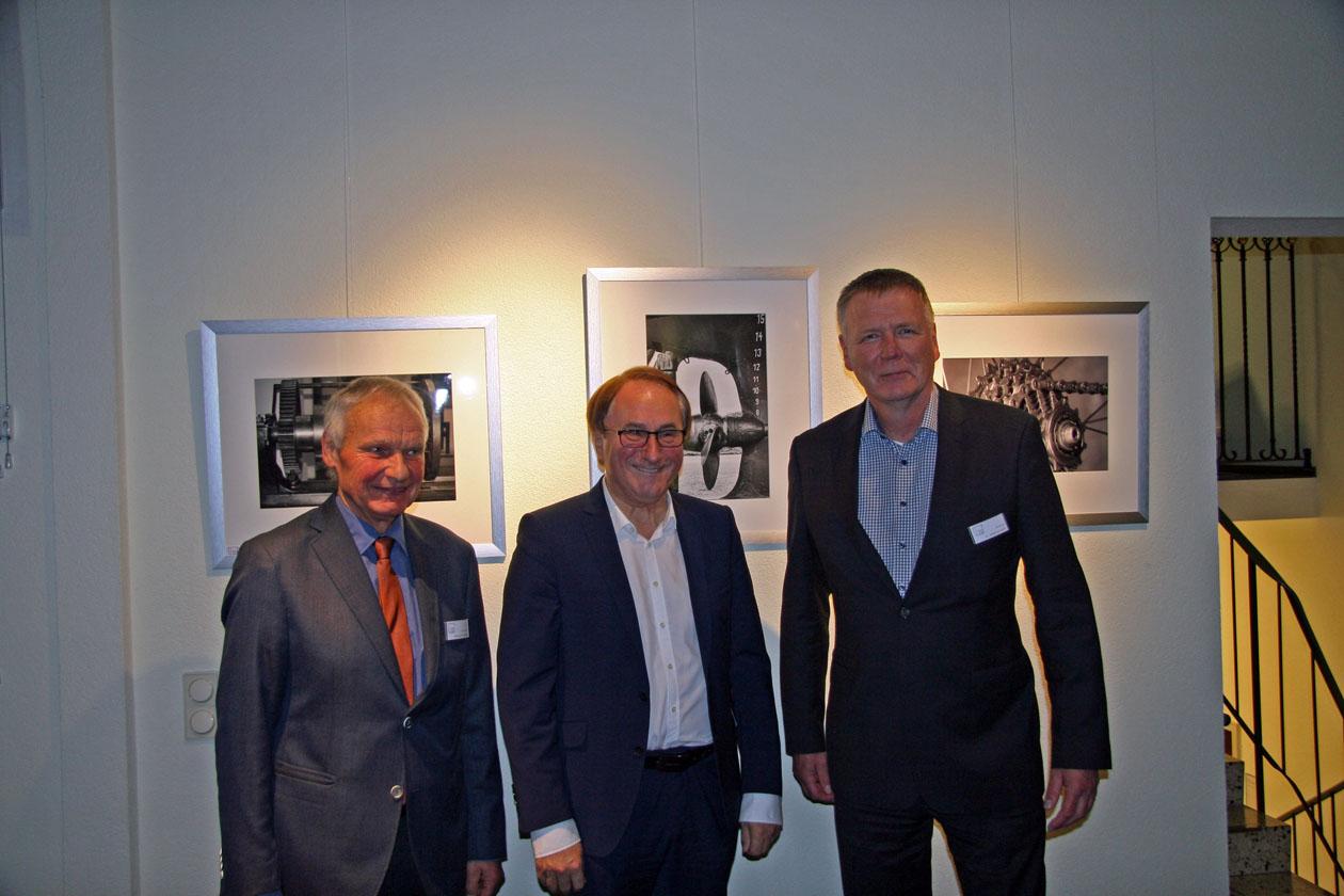 Unser 1. Vorsitzender Bernhard Waurick mit Bürgermeister Lamm und Pressewart Matthias Kullik