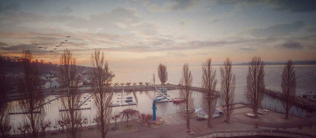 Morgenstimmung am Uhldingen HafenFoto: Jürgen Heppeler