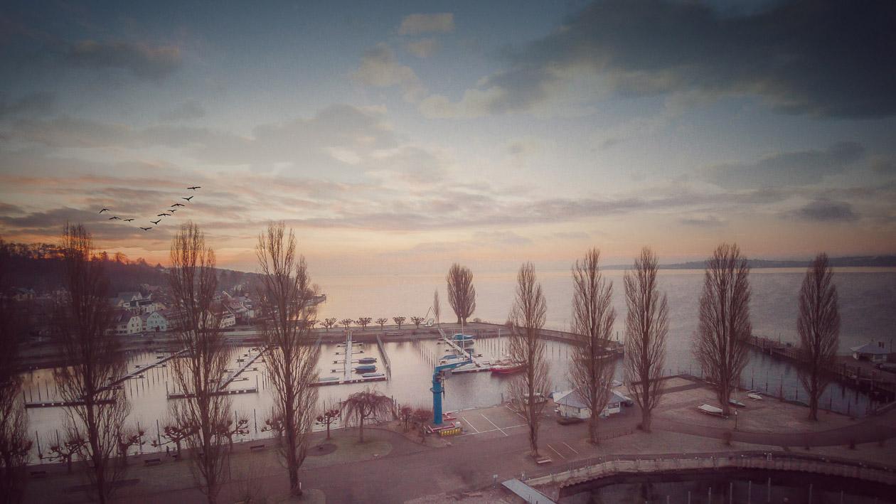 Morgenstimmung im Uhldingen HafenFoto: Jürgen Heppeler