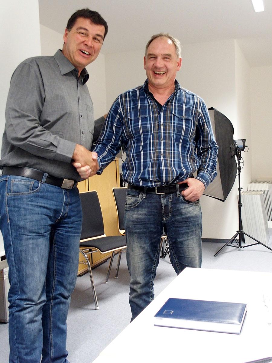 Der erste und der zweite Vorsitzende: Uwe Neumann (links) und Ewald Schlegel