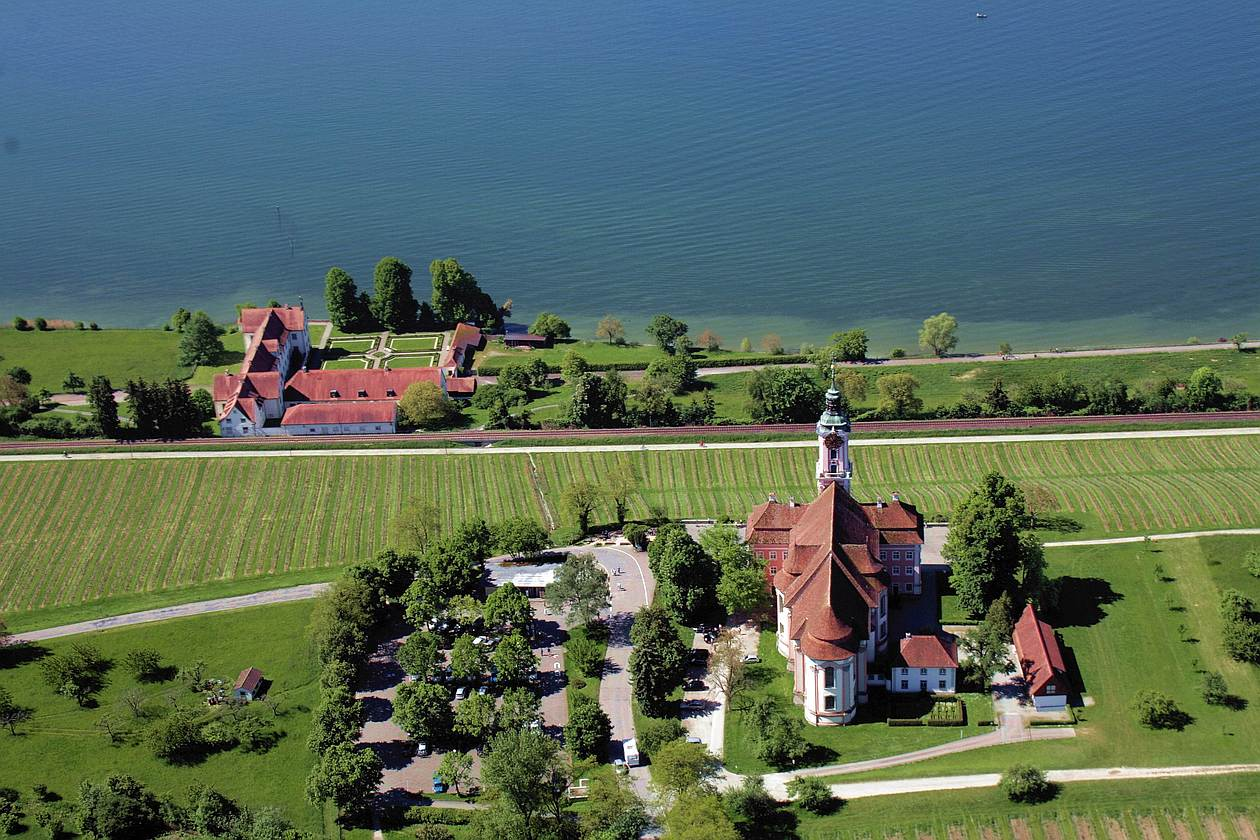 Basilika Birnau mit Schloss Maurach