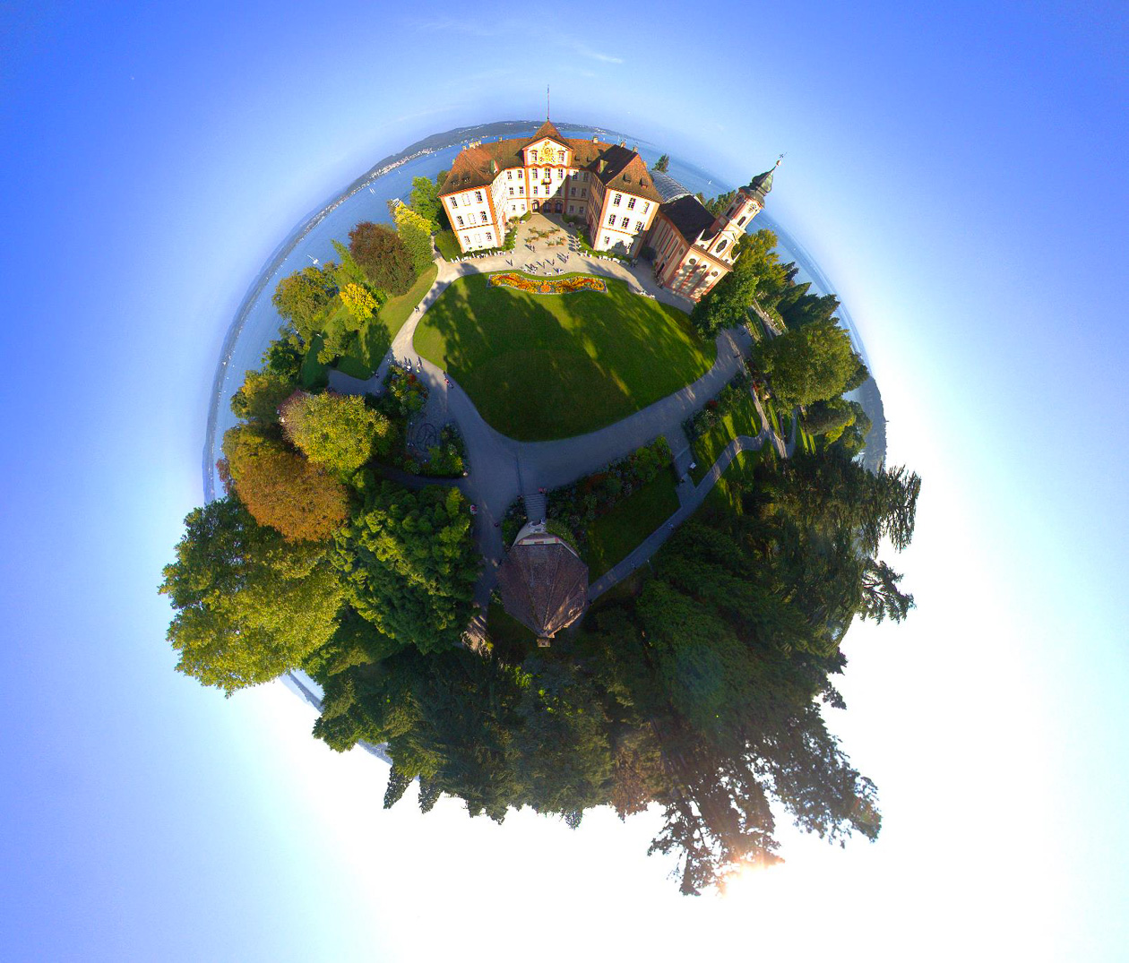 "Die Mainau als ""Little Planet"""