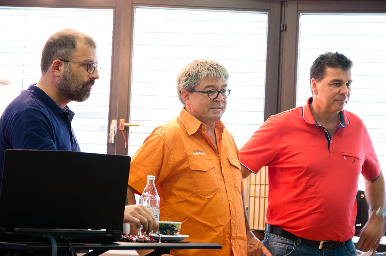 Osman Begdeda, Gotthilf Letsche und Uwe Neumann