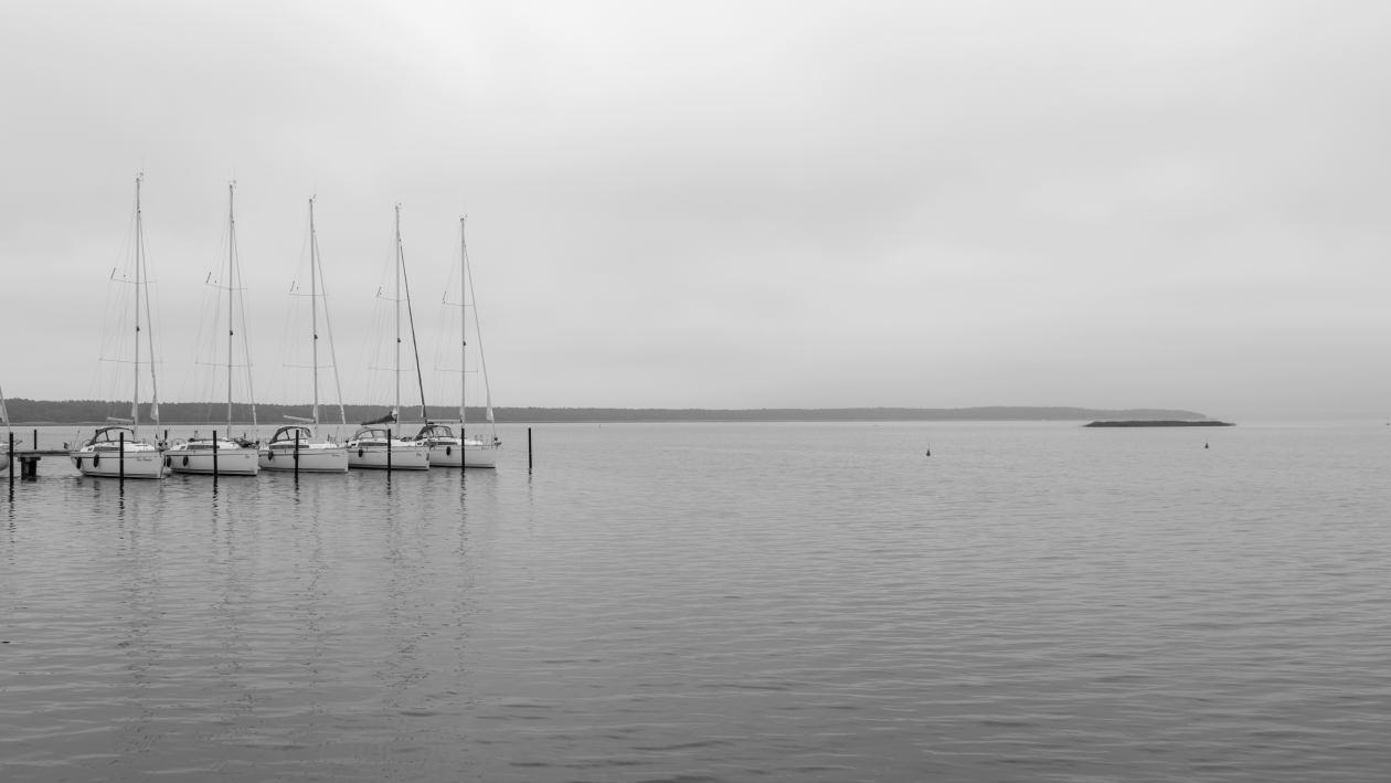 Segelboote auf dem Bodden