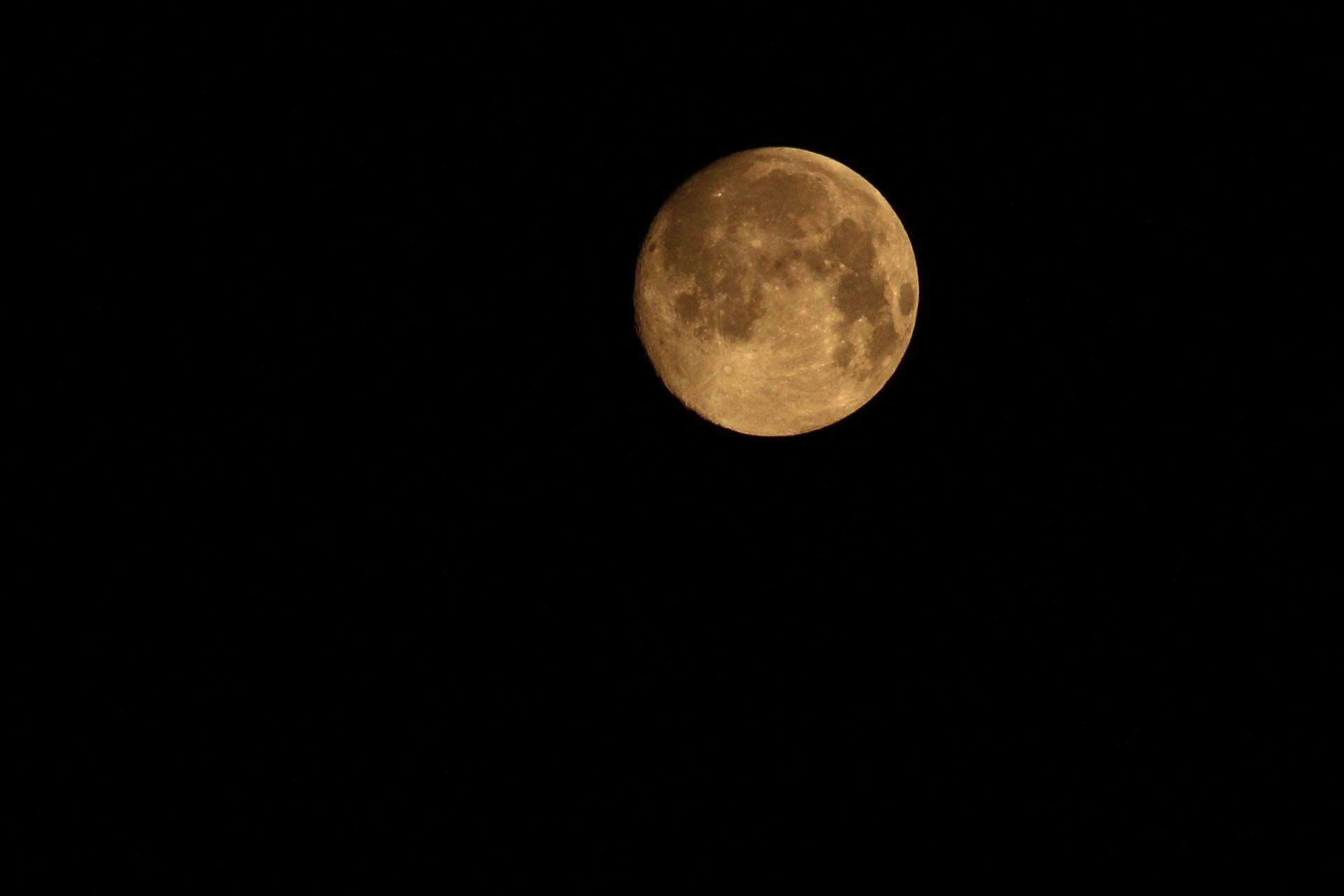 Morgen-Mond Foto: Uwe Neumann