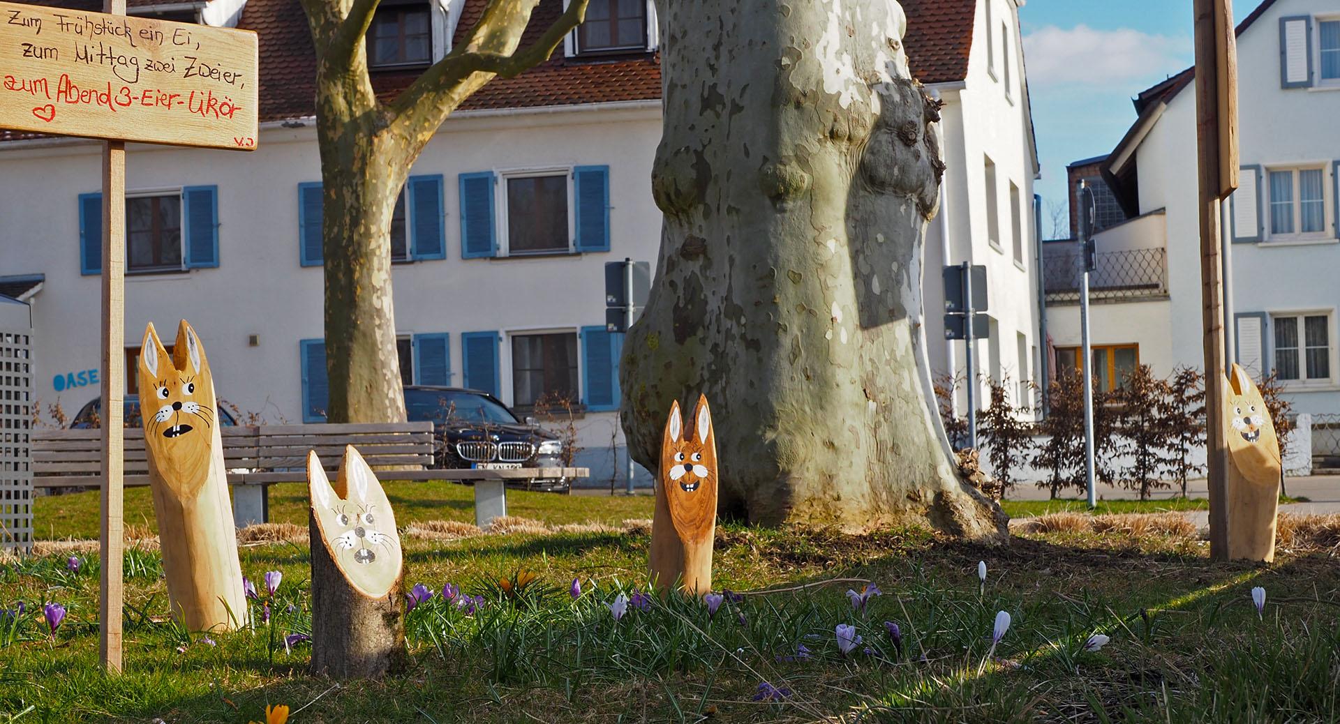 Osterhasen-Erkundungstrupp Foto: Bernhard Waurick