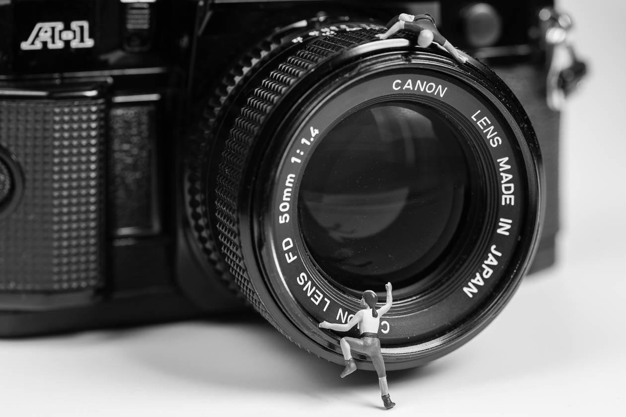 Kletterer bezwingt Kamera